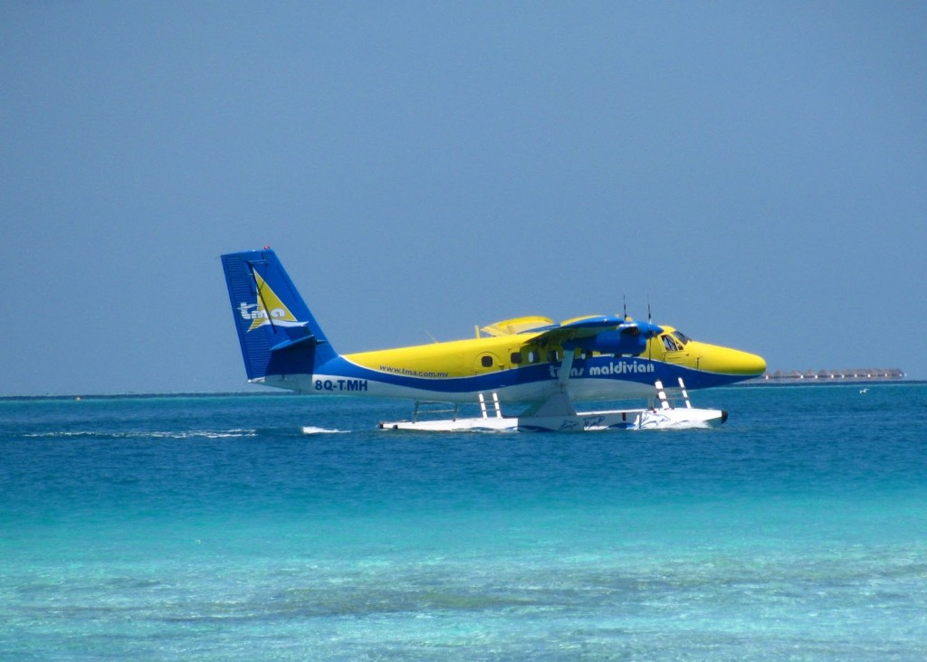 Sea plane - our flight from Male to Vilamendhoo Island Resort