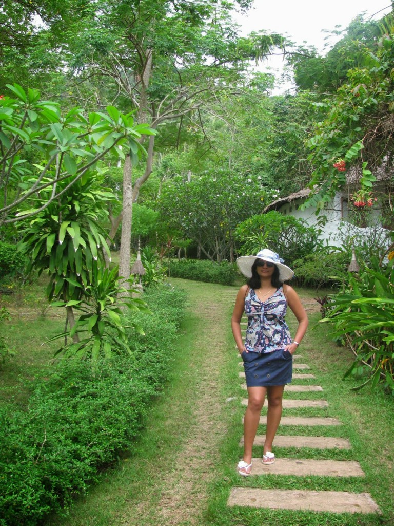 Lush green vegetation surrounds the cottages at Koh Tao Cabana Resort