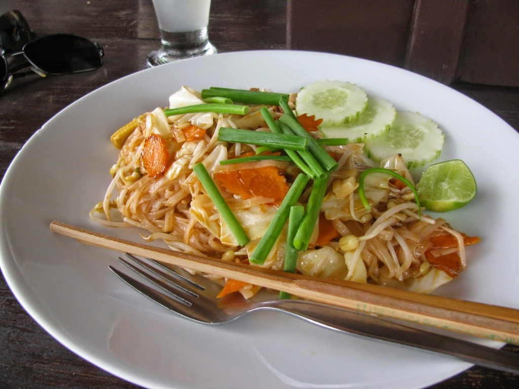 Vegetable Pad Thai... our lunch on each for the four days!