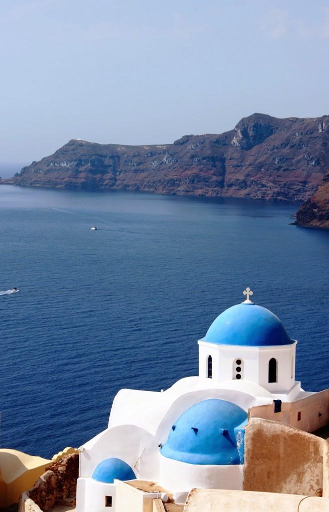 Santorini: Quintessential Santorini postcard picture