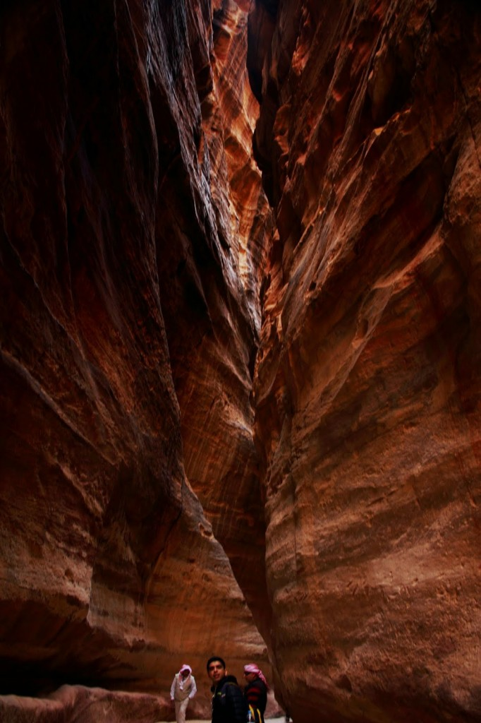 Petra: Narrowest part of the Siq