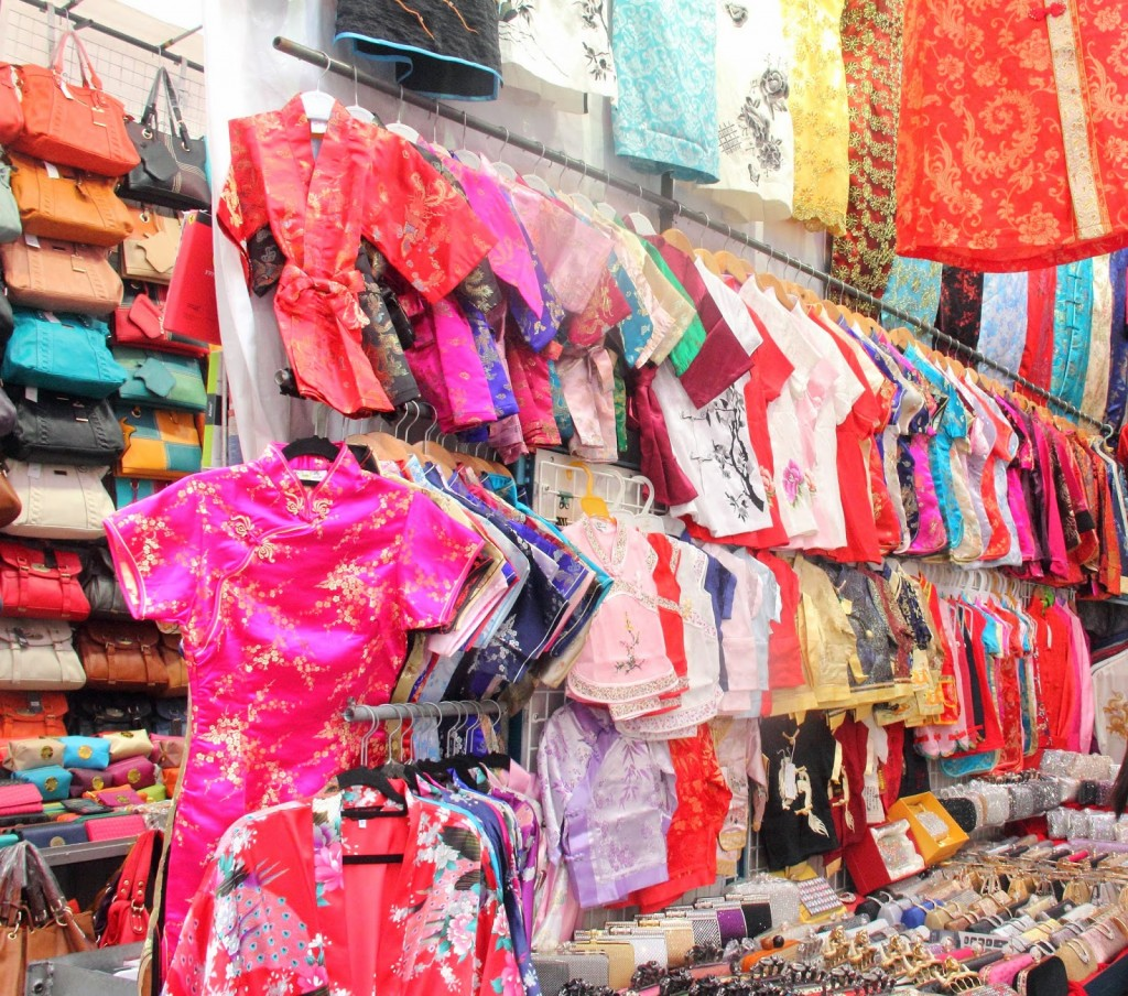 Hong Kong: Clothes at the Ladies' Market in Mongkok