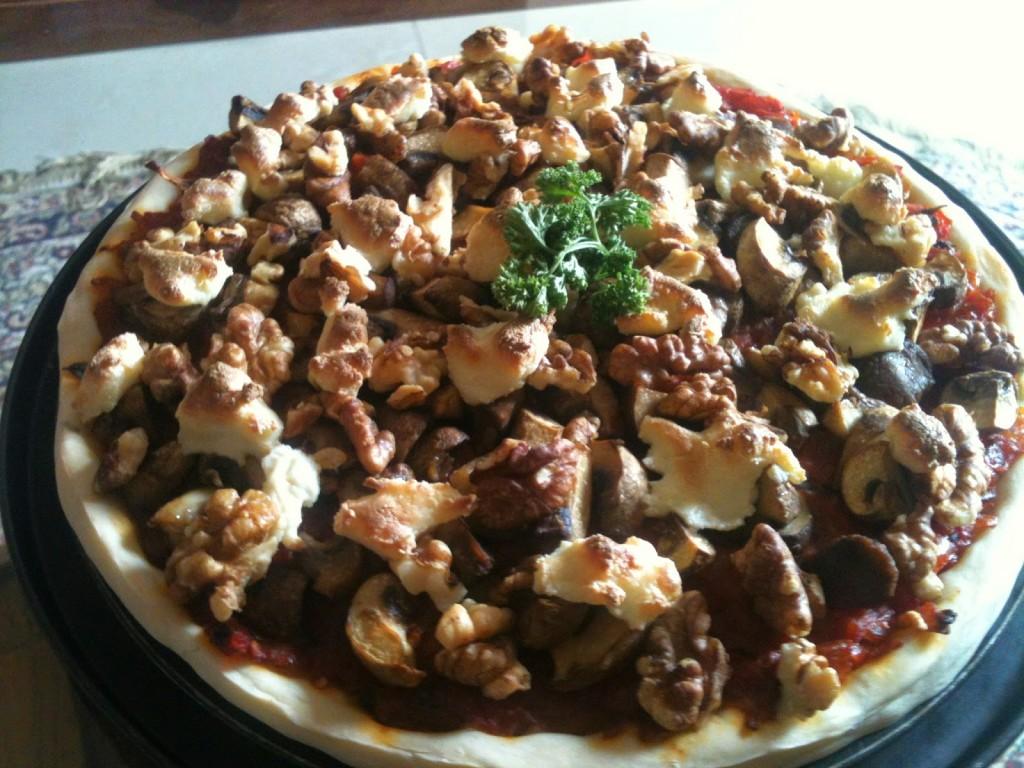 Mushroom pizza, Mumbai, India