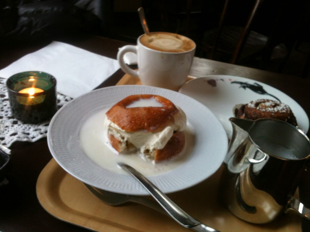 Coffee with Semla Bun, Stockholm, Sweden