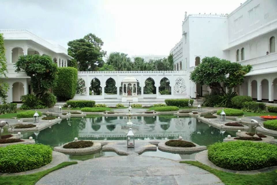 Udaipur: Lily Pond at athe Taj Lake Palace