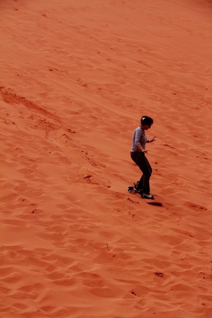 Wadi Rum: Sand-boarding