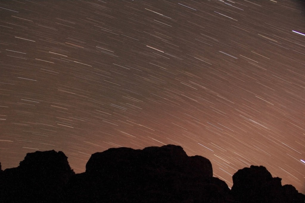 Wadi Rum: Attempt at clicking a star trail