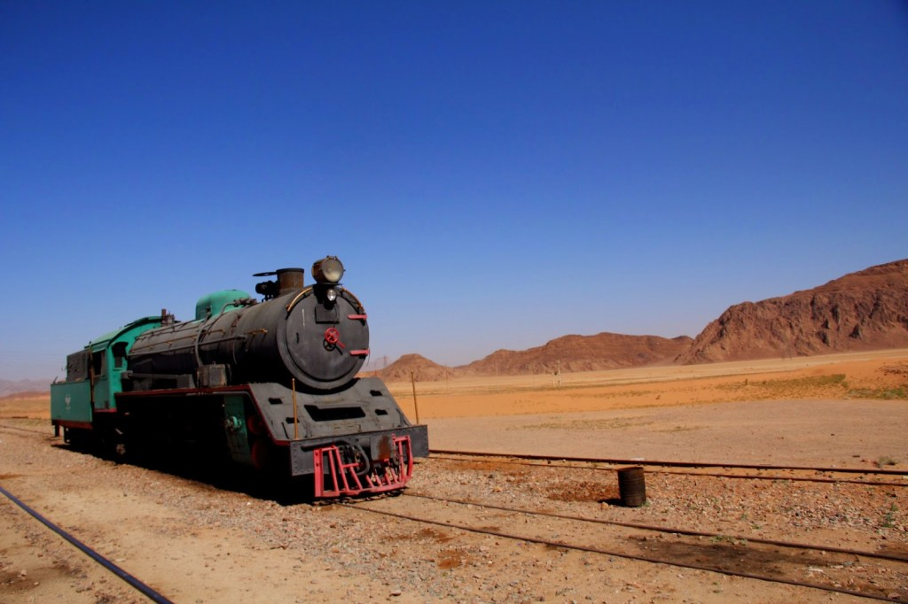 Wadi Rum: TE Lawrence's engine... travel back in time!