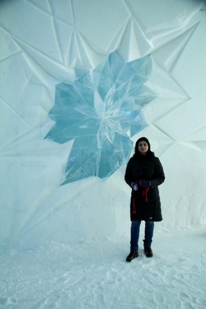 Ice Hotel: Entrance lobby