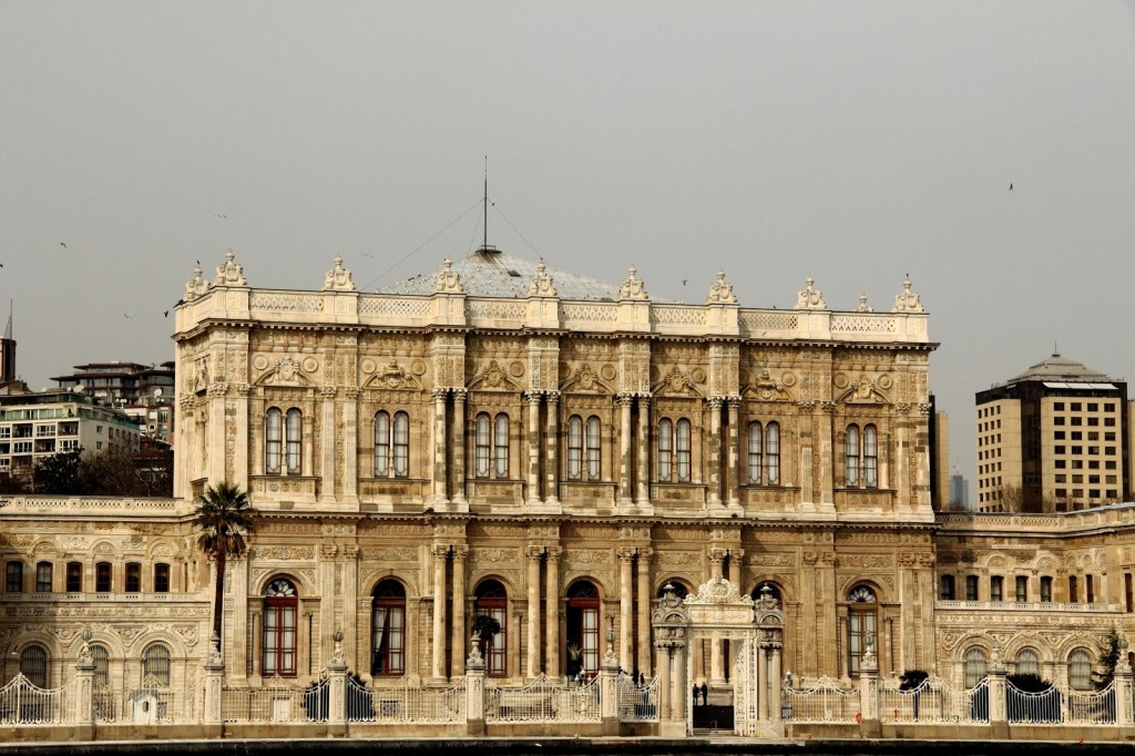 Istanbul: Dolmabache Palace as seen from the Bosphorous