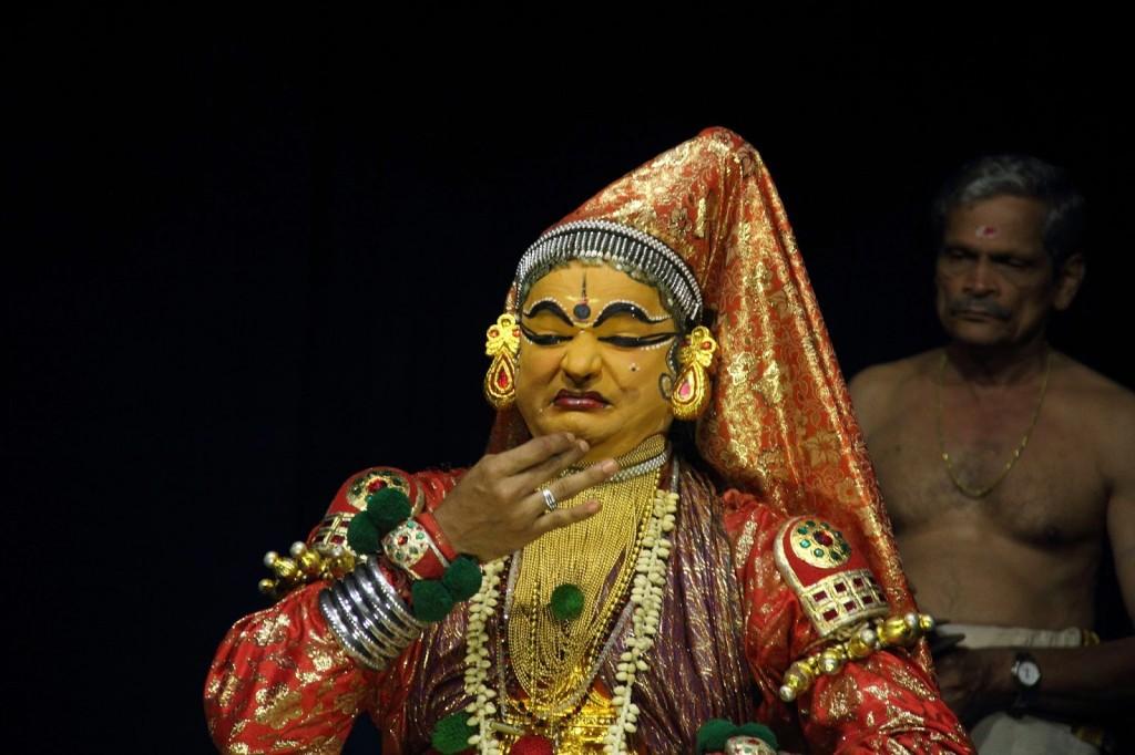 Kerala: Kathakali dancer conveying Bibhatsam