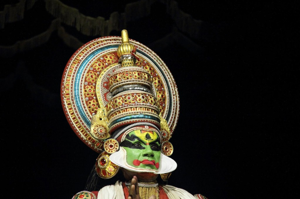 Kerala: Kathakali dancer, with his make up....difficult to describe without a picture!