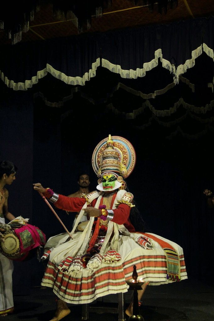 Kerala: Kathakali dancer in action!