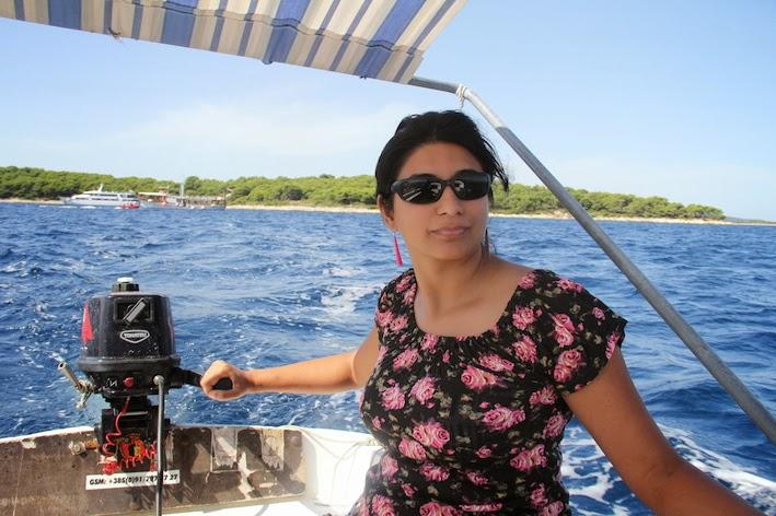 Hvar: Skipper at sea!