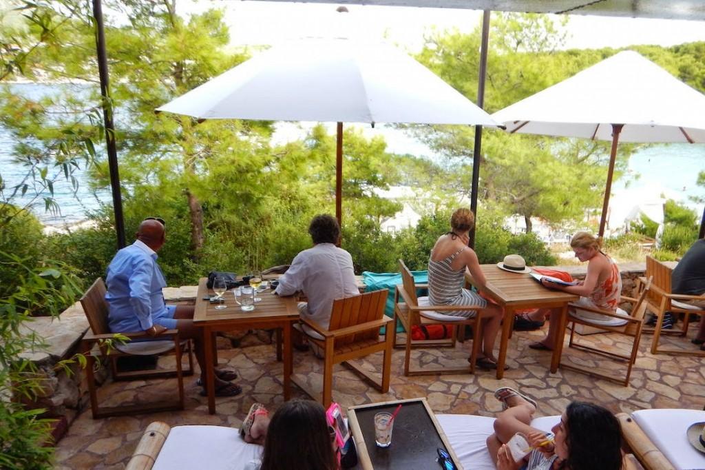 Hvar: Amo Bar at Jerolim Beach... A bar with a view!