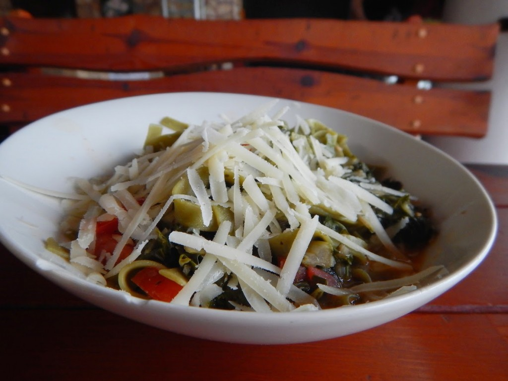 Hvar: Vegetarian pasta at the Amo Bar at Jerolim Island