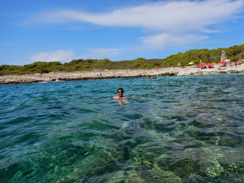 Hvar: Swimming in the crystal clear sea waters at Jerolim