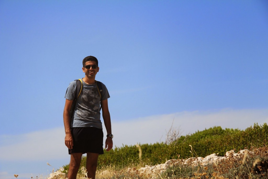 Hvar: Ankur hiking along to find his slice of paradise!