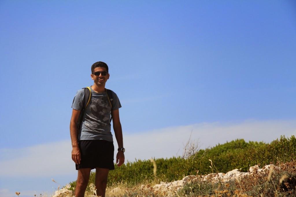 Hvar: Ankur hiking along to find his slice of paradise!