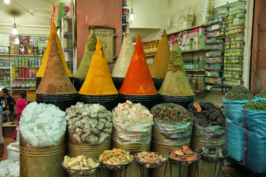 Marrakech: Aromatic spices in the souq