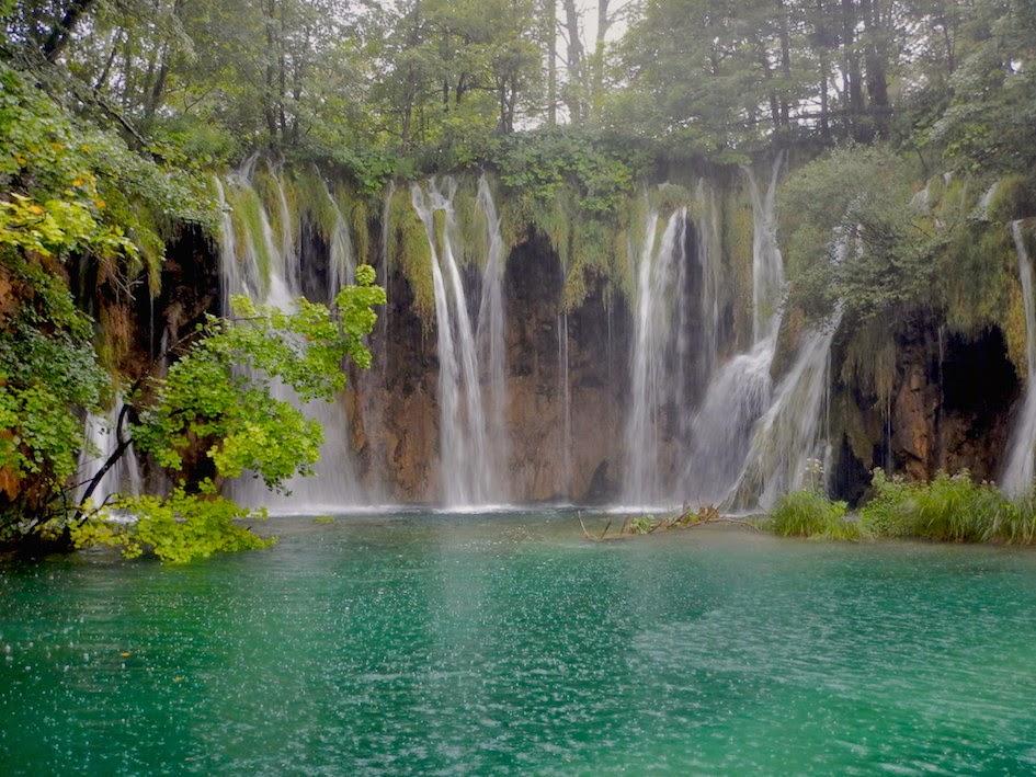 Plitvice National Park: Pitter patter raindrops...
