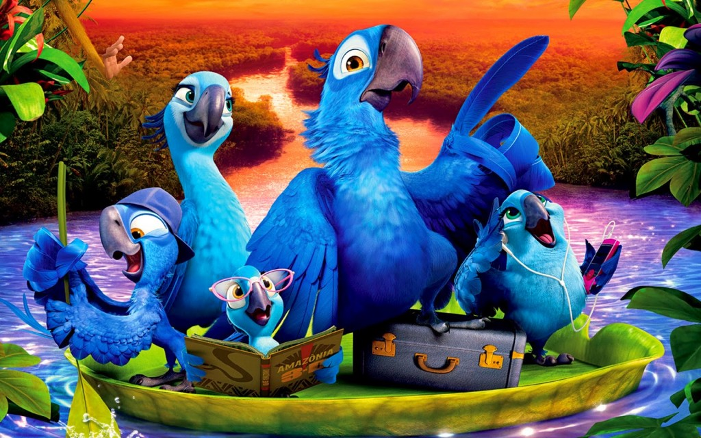 Rio 2: Blu, Jewel and their family