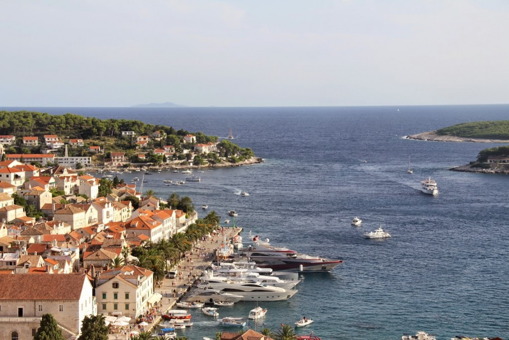Hvar: View of Hvar Town from the Fortress