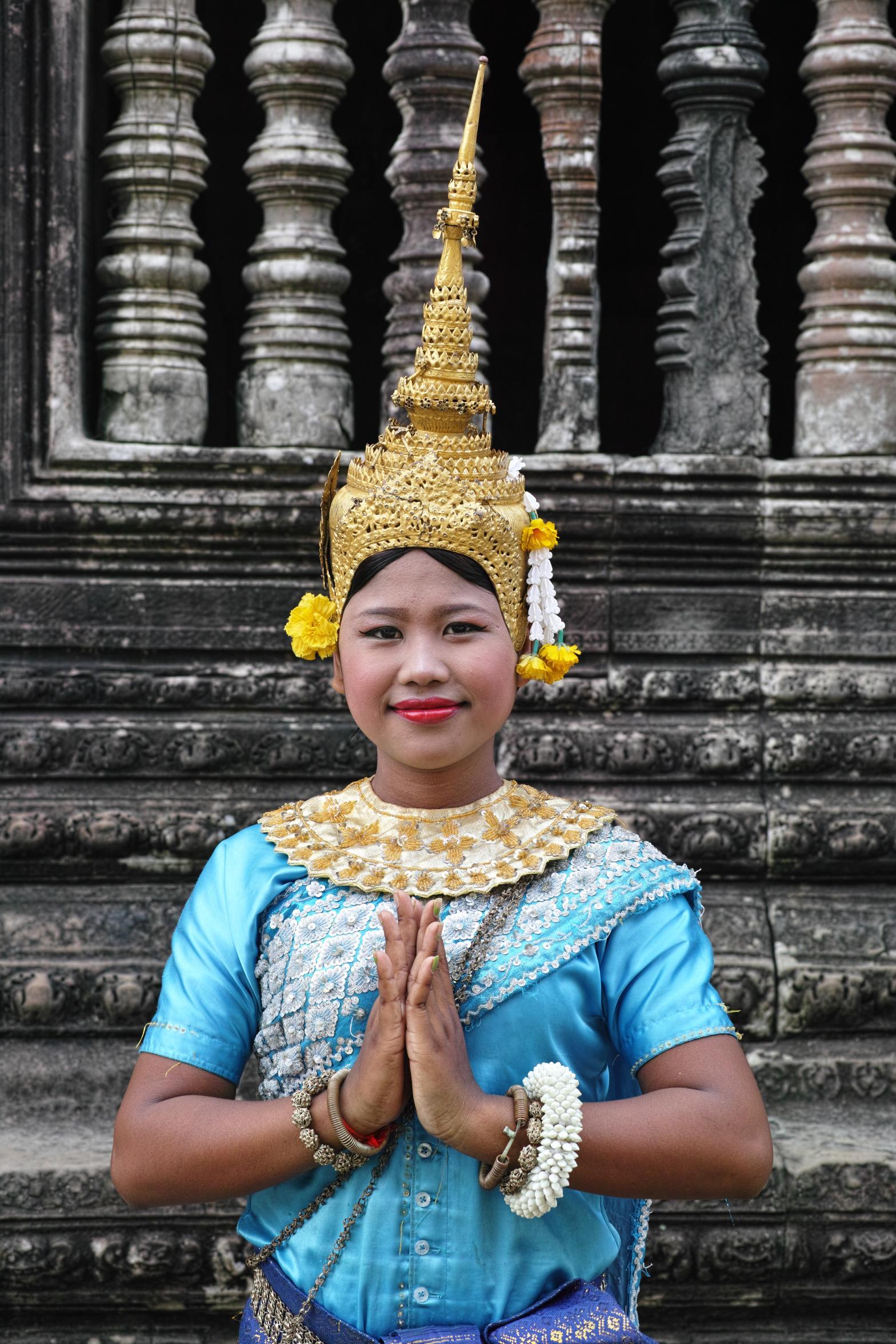 At Angkor Wat temple, Cambodia