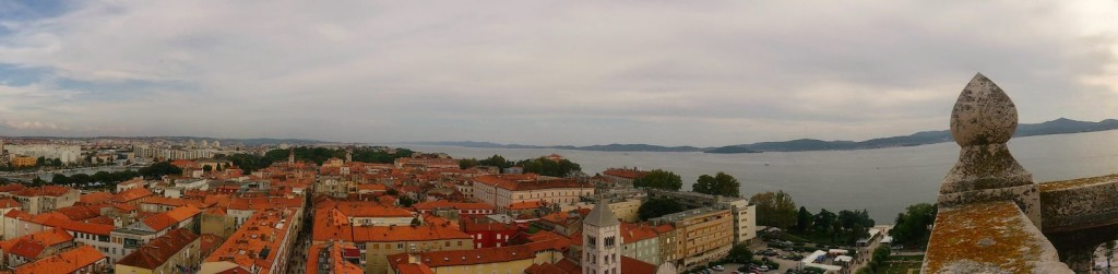 Zadar: Panoroma from the Bell Tower