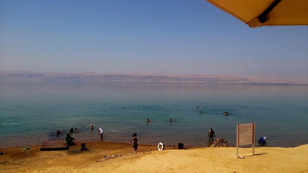 Dead Sea: We were at the Jordanian side... yonder is Israel