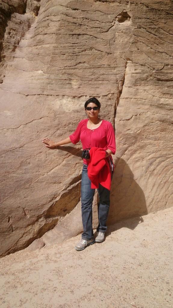 Jordan: At Petra - Jeans, long sleeve shirt and a fleece