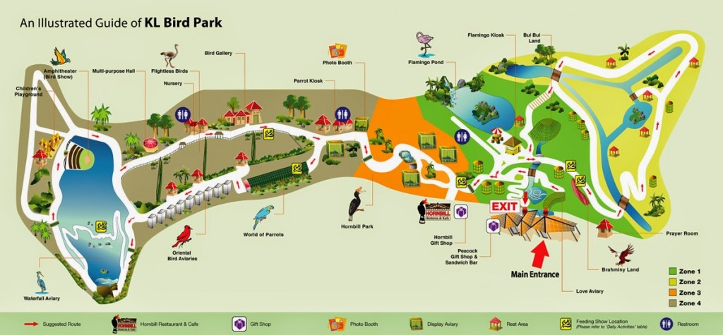 KL Bird Park - Map