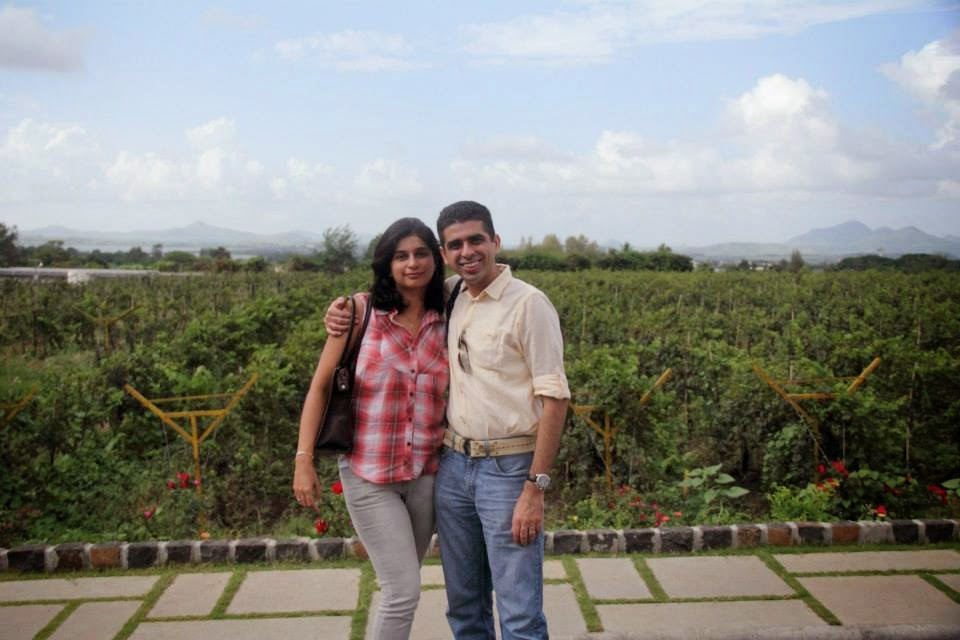 Happy at Sula Vineyards