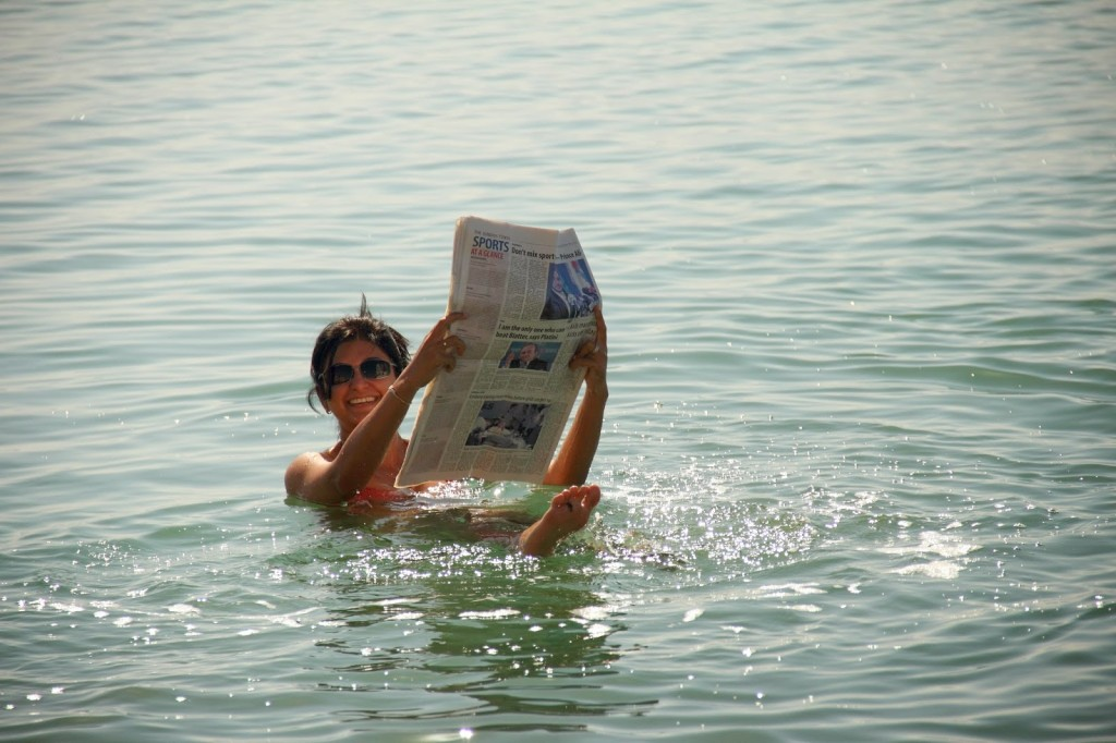 Bobbing on the Dead Sea