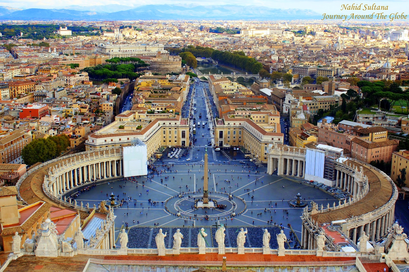 Vatican - View from copula of St. Peter's Basilica