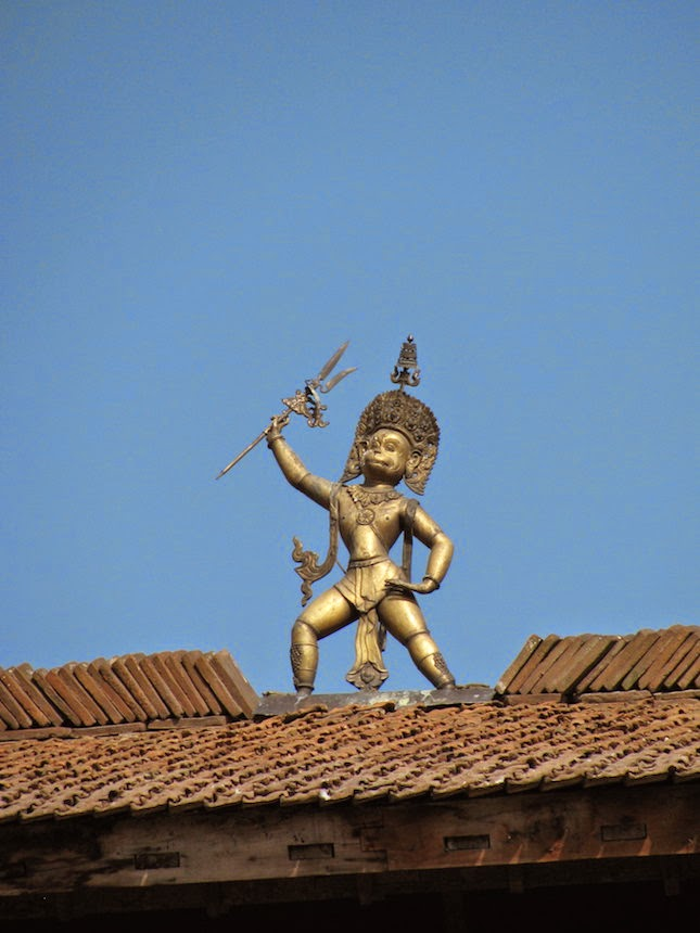 Lord Hanuman at the Patan Square