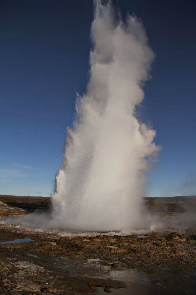 Geyser in Iceland (pic courtesy: K Preetam)