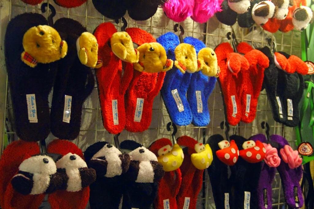 Colourful slippers at Jonker Street Night Market