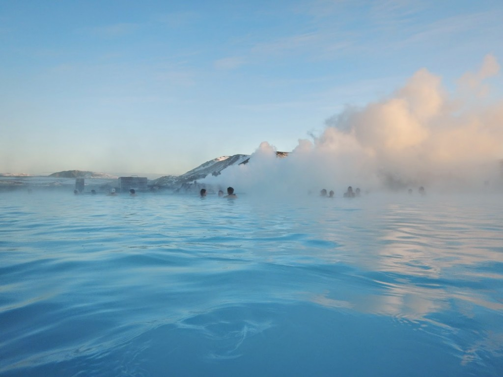 Milky blue steamy waters of the Blue Lagoon