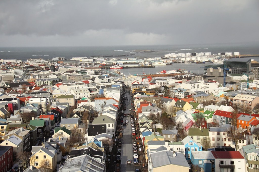 View from the top ofHallgrimskirkja