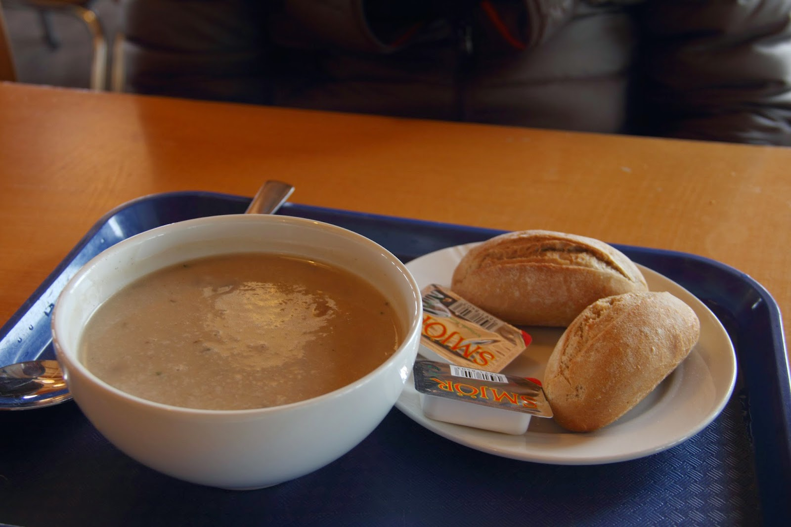 Mushroom soup at the Gulfoss cafe
