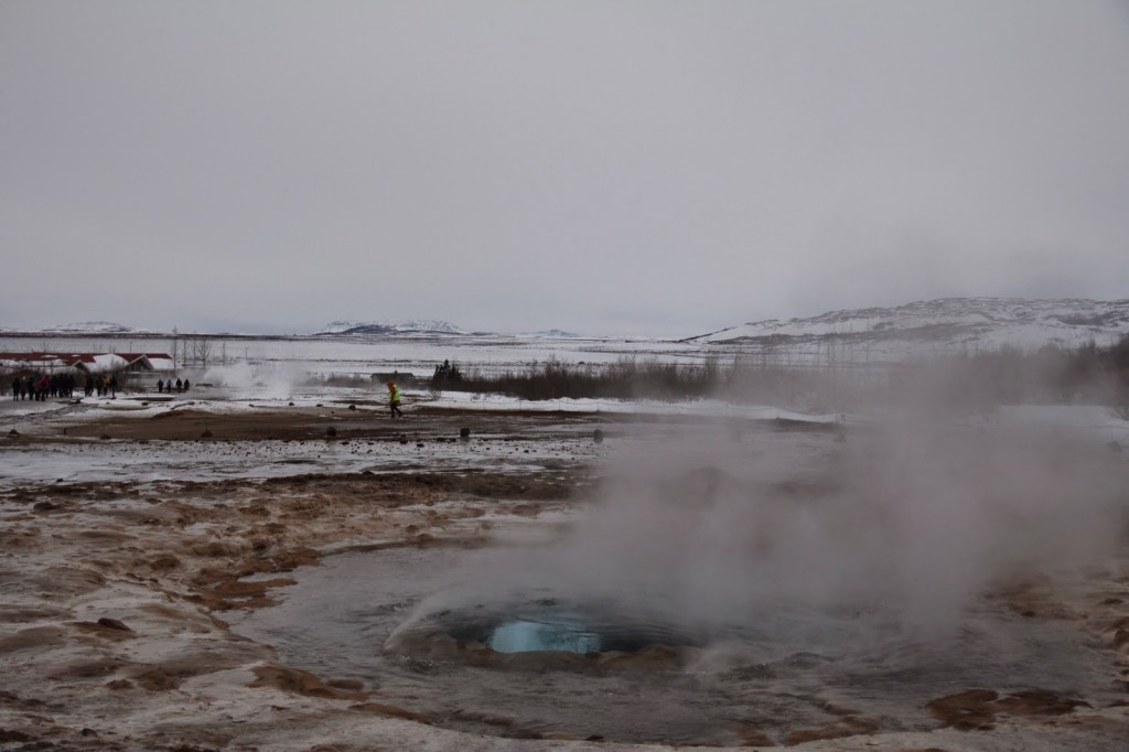 Bubbling under....the Strokkur getting ready to erupt!