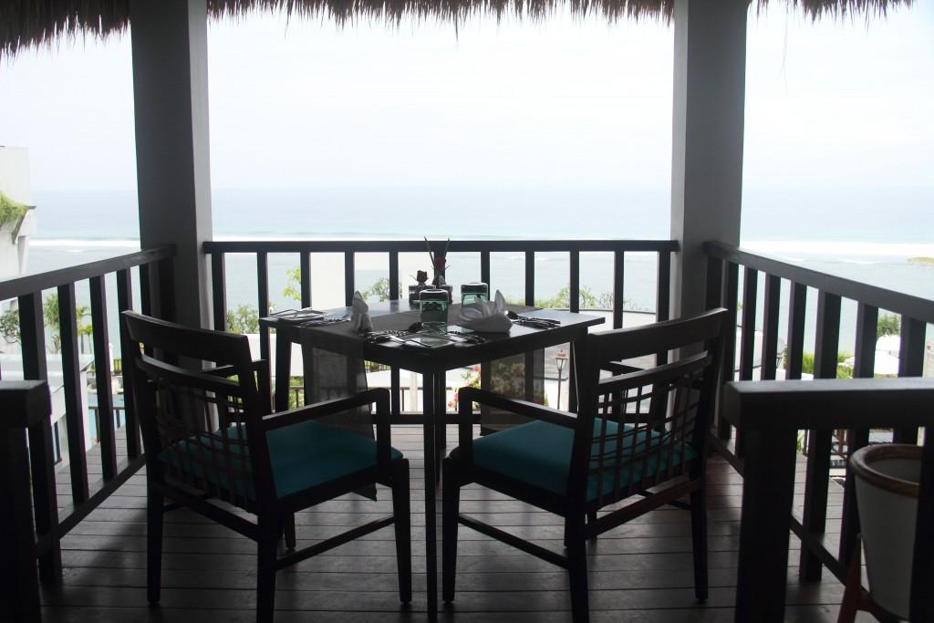 The 'verandah' set up at Crystal Blue