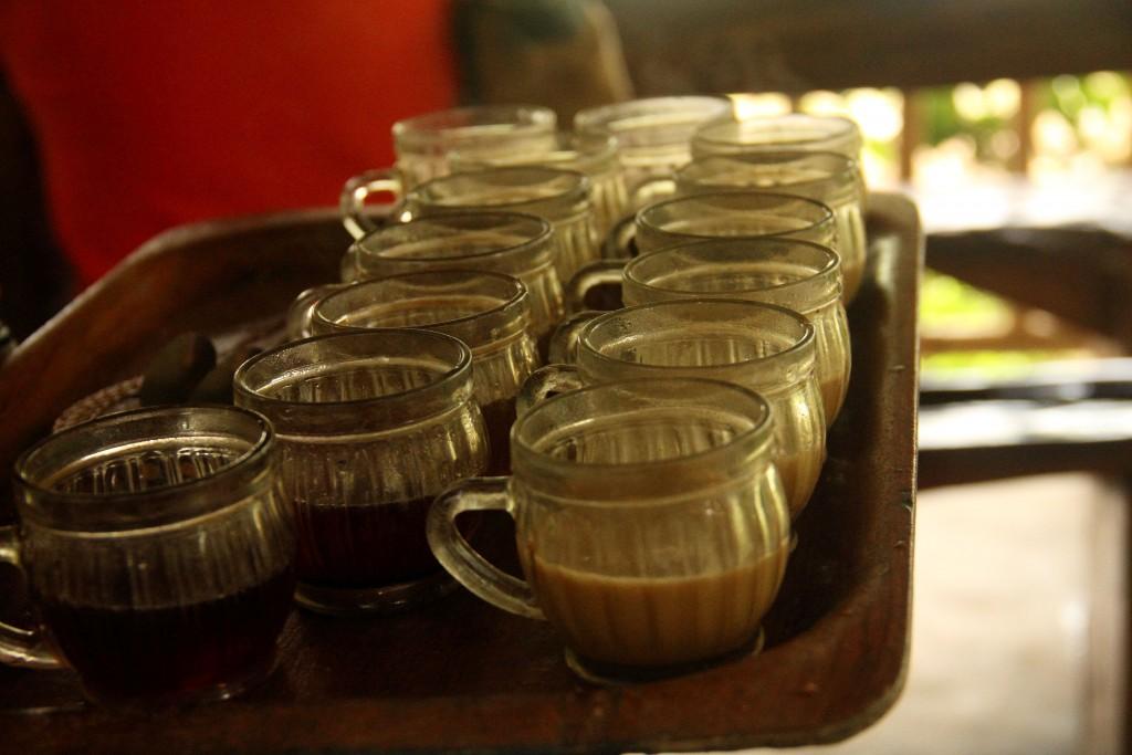 Tea and coffee tasting at Teba Sari