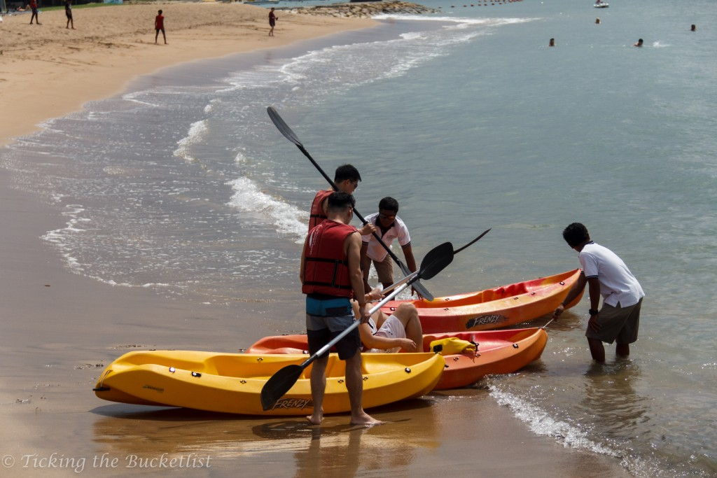 Kayaking at the private beach