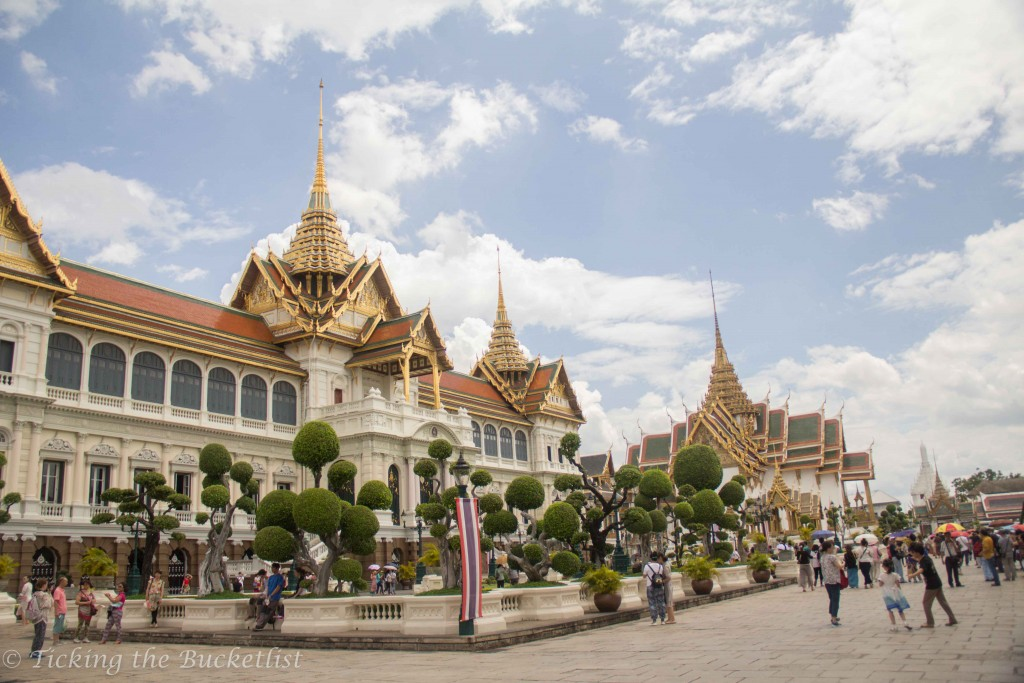 Exiting the Grand Palace, Bangkok