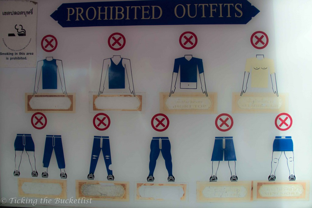 Prohibited clothing at the Grand Palace, Bangkok