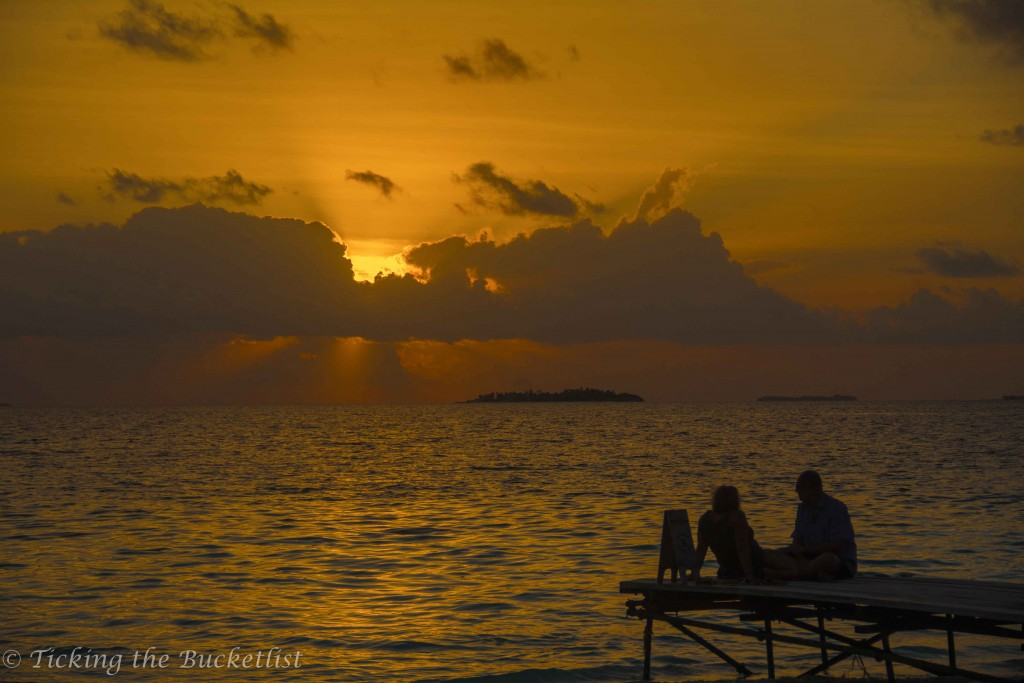 Sunset at Reethi Beach Resort (Maldives)