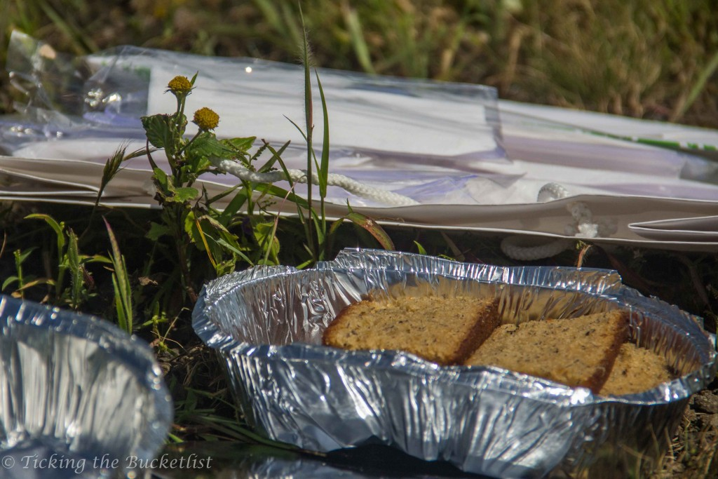 Delicious cake after the trek to Shillim peak