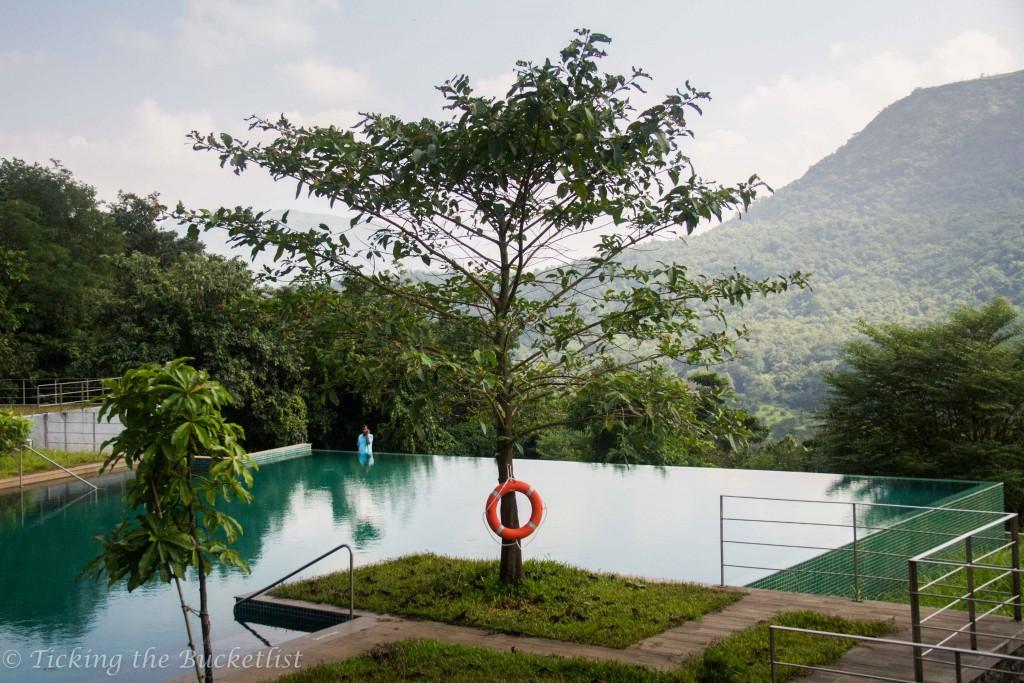 Infinity pool at Hilton Shillim
